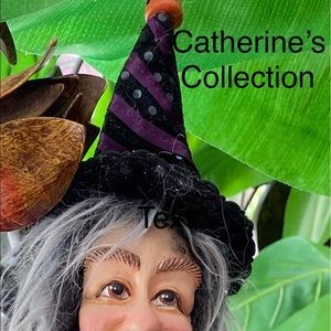 Katherine Collection Witch Doll Halloween Posable